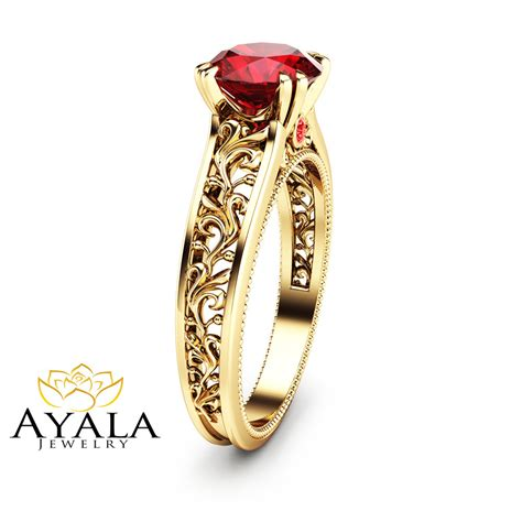 14k yellow gold ruby engagement ring ruby engagement ring