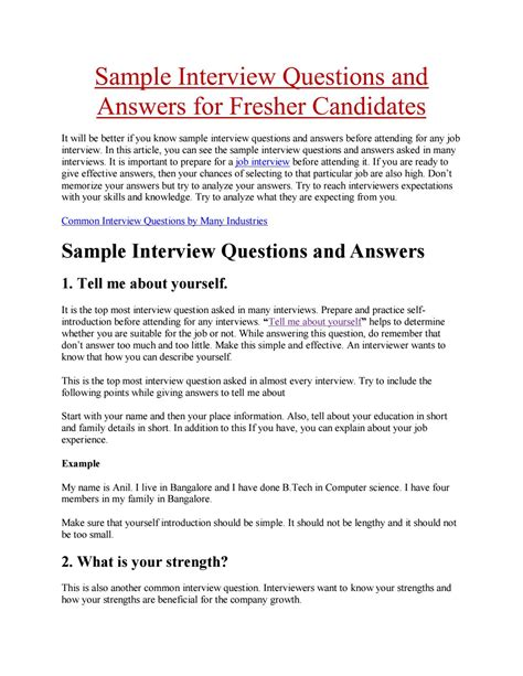 sle interview questions and answers for fresher