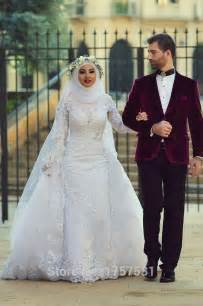 muslim bridesmaid dresses custom made 2015 white arab muslim wedding dresses white lace appliques wedding gowns