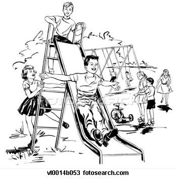 school playground clipart black and white on playground clipart black and white collection