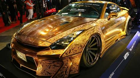 gold nissan car gold godzilla nissan gt r comes with 1 4m price tag