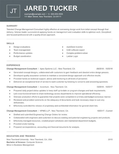 resume samples   job title industry resume