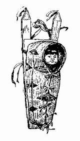 Native American Papoose Lore Scouting Library Clipart sketch template