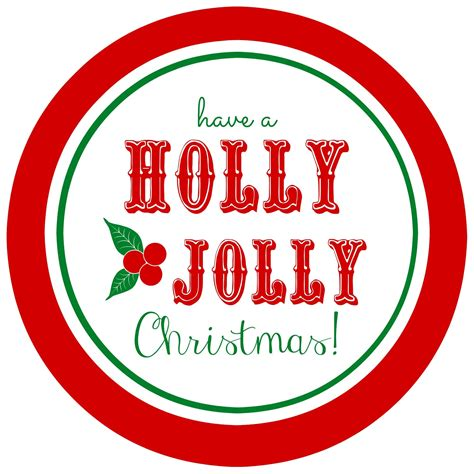 printable holly jolly gift tags