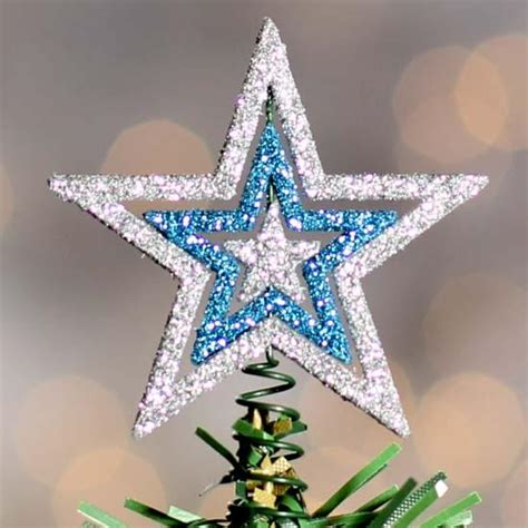 miniature glitter star tree topper christmas trees and toppers christmas and winter