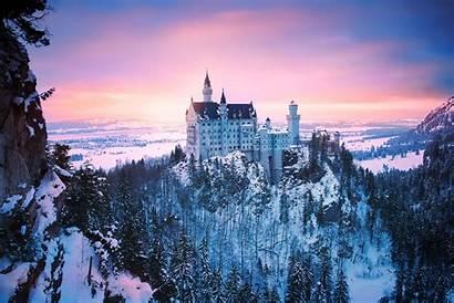 Castle Winter Castles Europe Neuschwanstein Germany