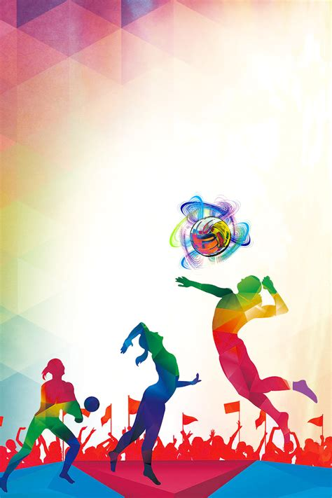 Sports Background Designs by Colorful Match Background Material