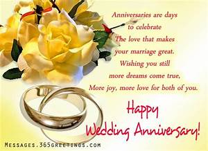 wedding anniversary wishes and messages 365greetingscom With wedding anniversary card messages