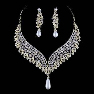 india pearl style bridal wedding necklace earrings set