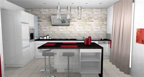 mur en cuisine cuisine cuisine moderne parement contemporain