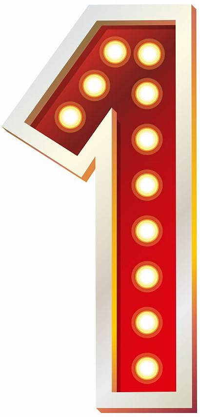 Number Clip Clipart Numbers Lights Decorative Yopriceville