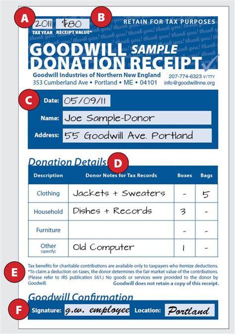 fill   goodwill donation tax receipt goodwill