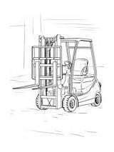 Forklift Coloring Camion Truck Colorare Ausmalbilder Disegni Kleurplaat Coloriage Scania Gabelstapler Lastwagen Druku Zum Gratis Kostenlos Lkw Drawing V8 Chariot sketch template