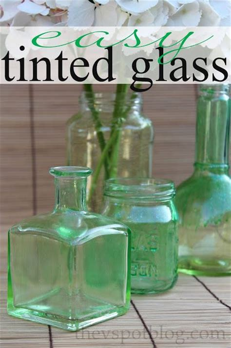 easy upcycle project tinted glass bottles  jars