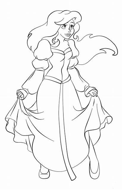 Ariel Coloring Disney Princess Odette Mermaid Colourme