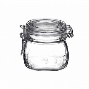 Bocal En Verre Hermétique : bocal herm tique carr 50cl en verre pour terrine fido bormioli rocco ~ Teatrodelosmanantiales.com Idées de Décoration