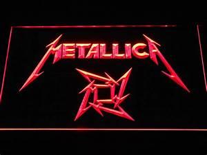 Metallica Star Logo LED Neon Sign   SafeSpecial  Metallica