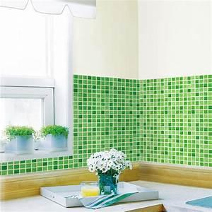 Fliesenfolie Küche Selbstklebend : tapete selbstklebend dekofolie mosaik fliesen gr n bad k che www 4 ~ Frokenaadalensverden.com Haus und Dekorationen