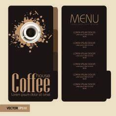 el menu elegante cafeteria precio tabla de vectores With coffee price list template
