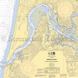 Oregon Winchester Bay Umpqua River Nautical Chart Decor