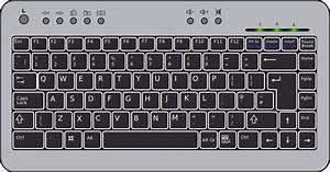 Compact Computer Keyboard Clip Art at Clker.com - vector ...