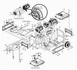 Generac Portable Generator Parts Diagram
