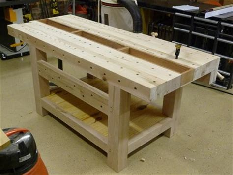 recessed area  workbench woodworking talk