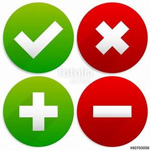 """Simple Checkmark, Cross and Plus, Minus Signs / Icons ..."