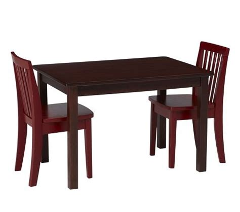 pottery barn table chairs playroom
