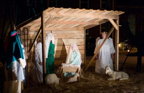 nativity scene at pine grove methodist church outdoor nati flickr