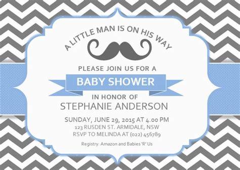 diy printable ms word baby shower invitation template