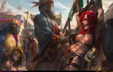 Red Sonja And The Slave Market By Sabudenego Zokko