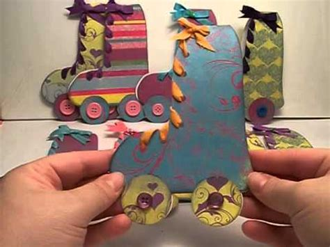diy roller skate birthday party invitations youtube