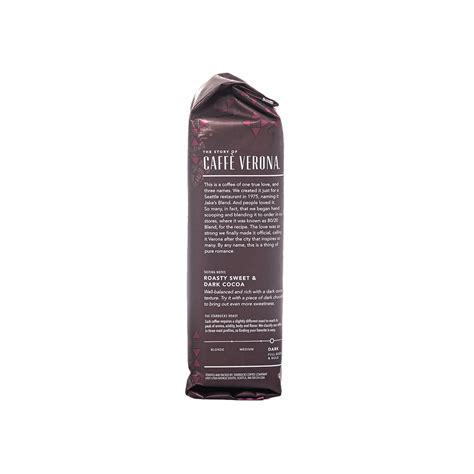 You will be able to detect undercurrents of dark cocoa. Starbucks® Caffe Verona   16 oz Ground Coffee   ReadyRefresh
