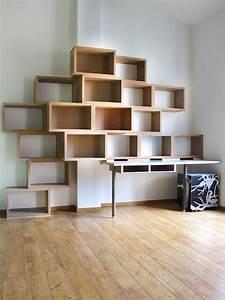 Aménagement Bibliothèque : biblioth que bureau variation 17 design claude jouany ~ Carolinahurricanesstore.com Idées de Décoration