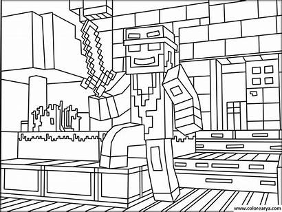 Minecraft Coloring Pages Characters Sheets Pixel Lego