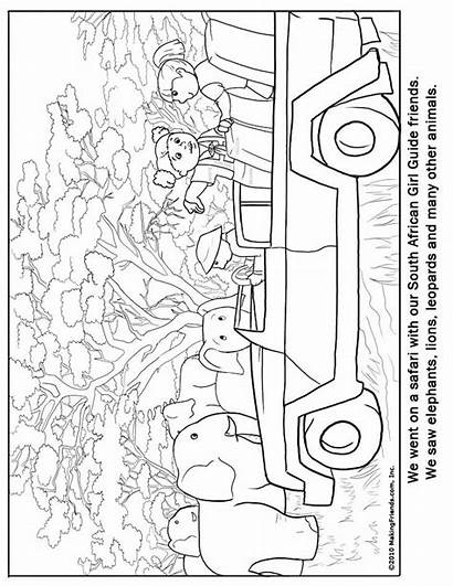 Coloring Africa Pages South Colouring Guide African