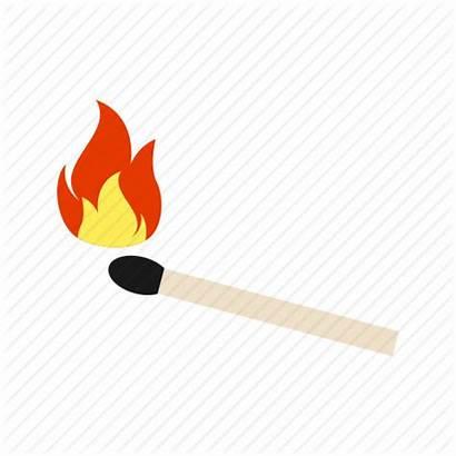 Matches Match Fire Stick Icon Flame Matchstick