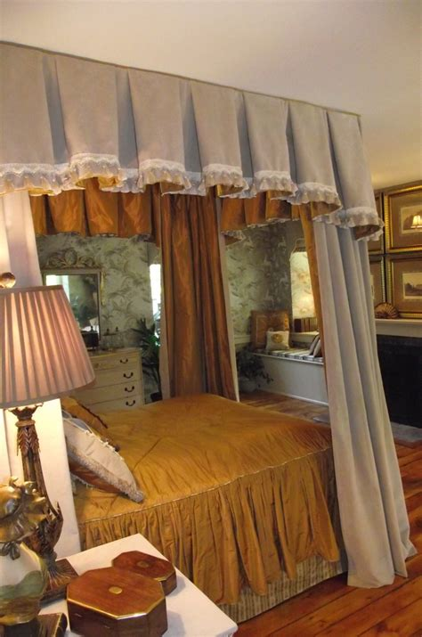 gold canopy bed curtains 17 best images about curtain beds etc on pinterest
