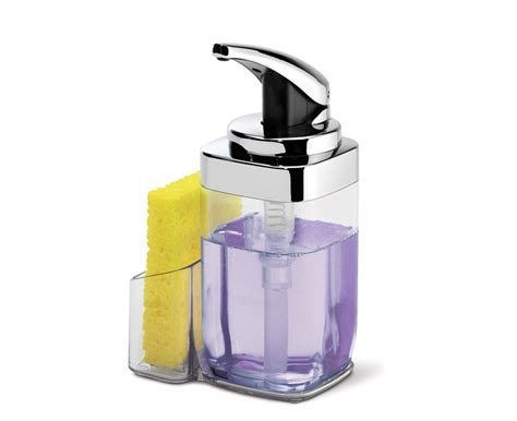 Square Soap Dispenser With Caddy
