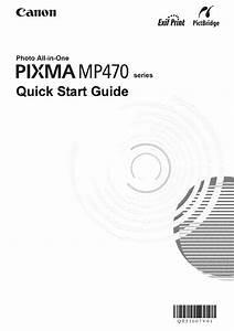 Canon All In One Printer Mp470 User Guide