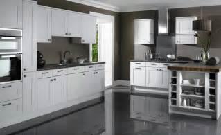 white kitchen cabinets with black island grey kitchen cabinets grey floor quicua