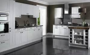 Grey Kitchen Cabinets Grey Floor Quicua Com
