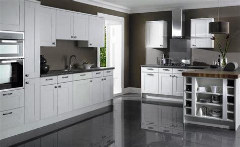 white kitchen grey floor white shaker kitchen cabinets grey floor idea lentine