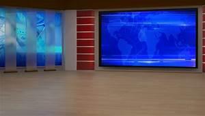 News TV Studio Set 195
