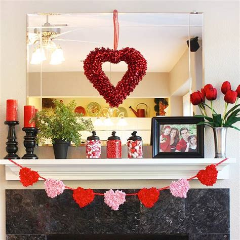 Decorating Ideas Valentines Day by S Day Mantel Decoration Ideas