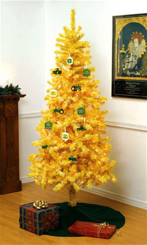 John Deere Tractor Yellow Christmas Tree & Ornaments — The