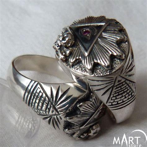 Illuminati Ring Illuminati Masonic Ring Eye Of Providence Skull And