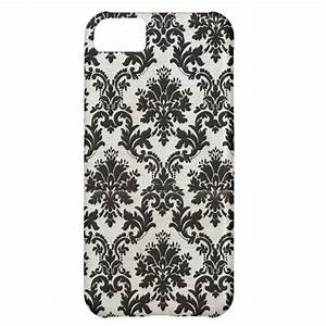 Vintage Black and White Damask Wallpaper iPhone 5C Case ...