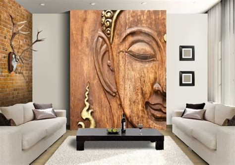 carved buddha custom wallpaper mural print  jw